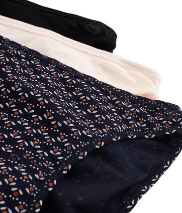 Lote de 3 braguitas de algodón ligero para mujer