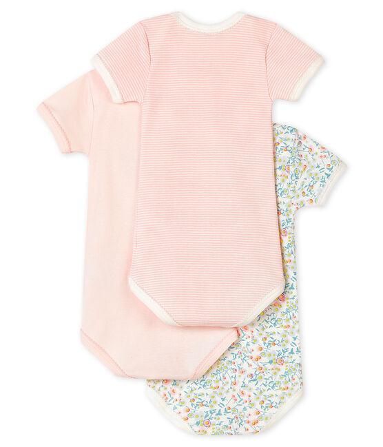 Juego de 3 bodis de manga corta color pastel para bebé niña lote .