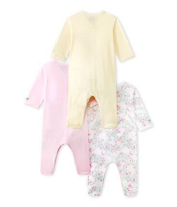 Lot de 3 pijamas para bebé niña