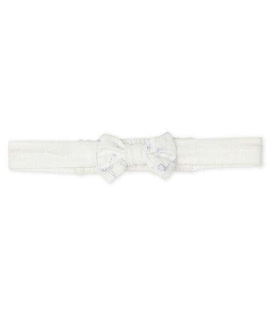 Cinta de punto para bebé niña blanco Marshmallow / blanco Multico