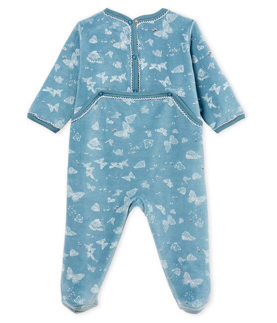 Pelele para bebé de niña azul Fontaine / blanco Marshmallow