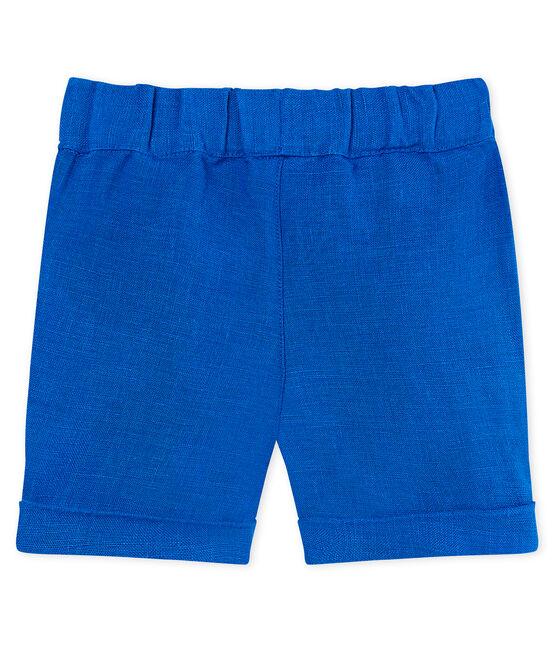 Shorts de lino para bebé niño azul Riyadh