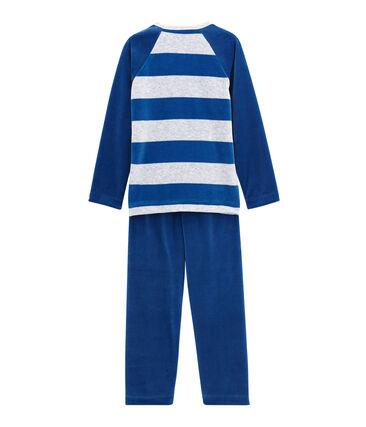 Pijama para niño azul Limoges / gris Poussiere