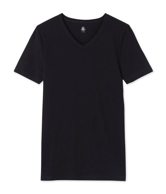 Camiseta de manga corta icónica para hombre negro Noir