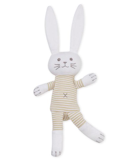 Dudú conejito sonajero para bebé unisex beige Perlin / blanco Marshmallow