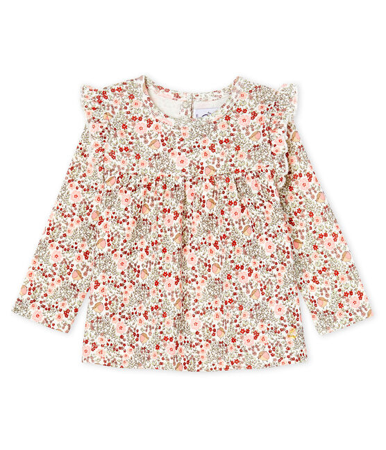 Blusa de manga larga estampada para bebé niña blanco Marshmallow / blanco Multico