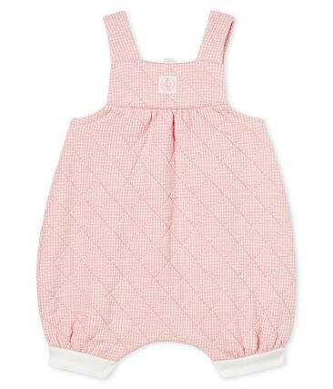 Peto corto para bebé de túbico acolchado rosa Charme / blanco Marshmallow