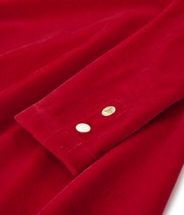 Vestido de manga larga para niña rojo Terkuit