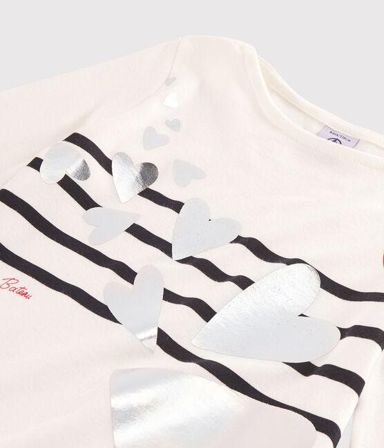 Camiseta serigrafiada para niña blanco Marshmallow