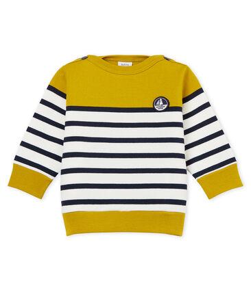 Sudadera de rayas marineras colorblock para bebé niño