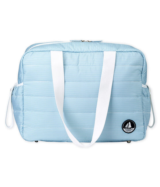Bolsa de maternidad milrayas para bebé unisex azul Fontaine / blanco Marshmallow