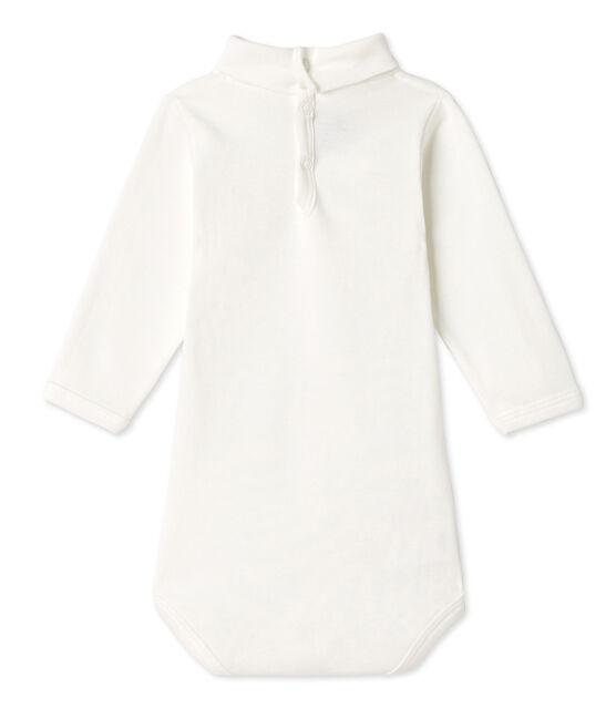 Body liso unisex de manga larga para bebé blanco Lait