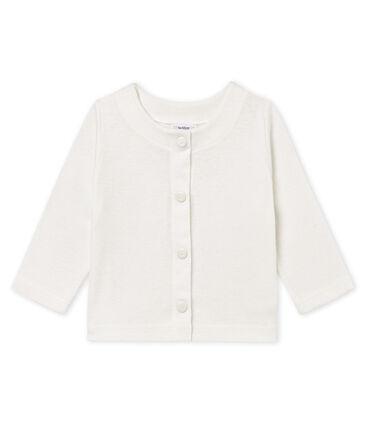 Cárdigan de algodón/lino para bebé niña blanco Marshmallow