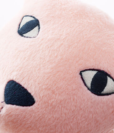 Cojín de pantera de terciopelo rosa Minois