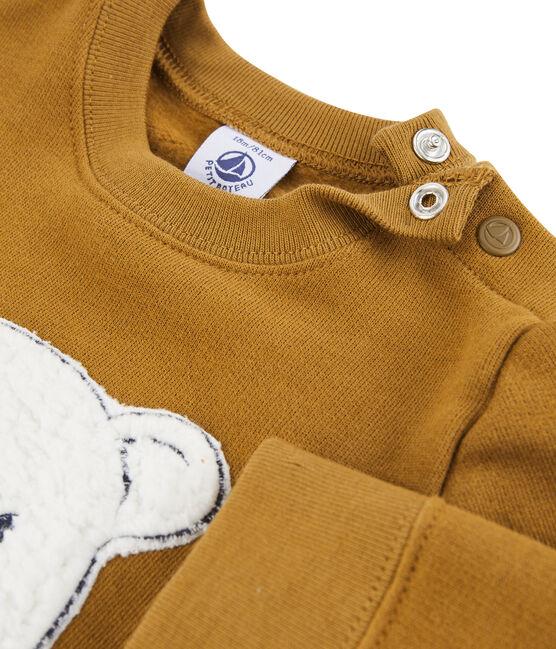 Sudadera de muletón para bebé niño marrón Cuivre