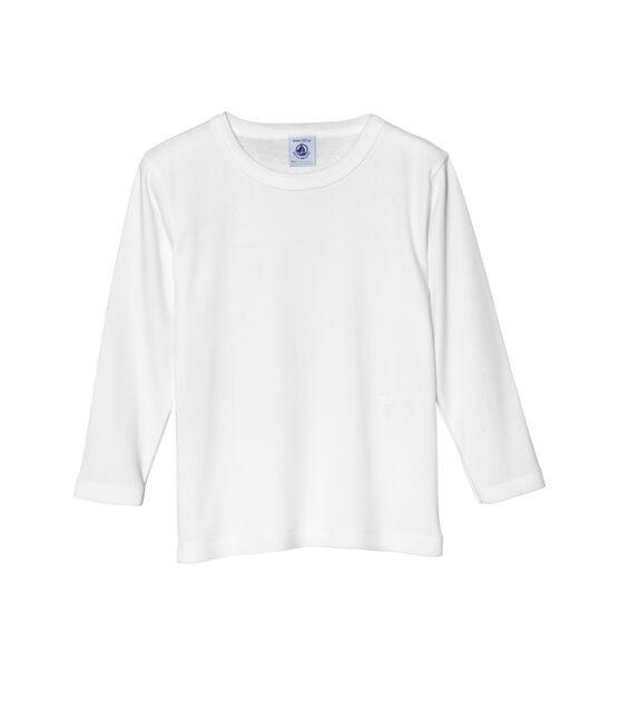 Camiseta para niño en manga larga blanco Ecume