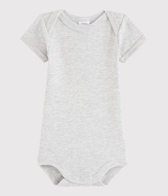 Bodi de manga corta de bebé niña/niño gris Beluga