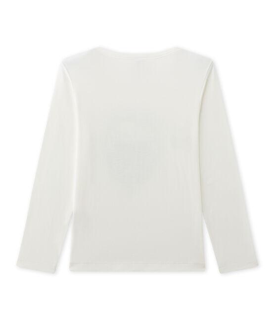 Camiseta de manga larga estampada para niño beige Coquille