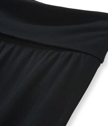 Pantalón de punto para mujer negro Noir