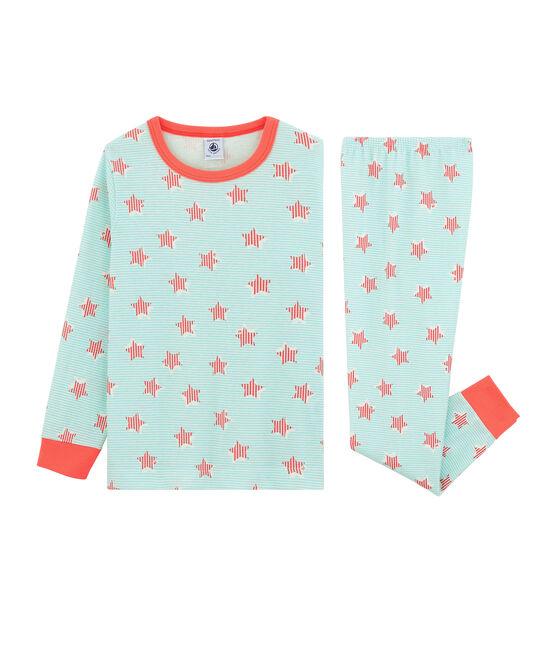 Pijama de punto para blanco Marshmallow / blanco Multico