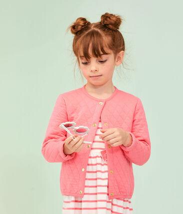 Cárdigan de niña rosa Cupcake