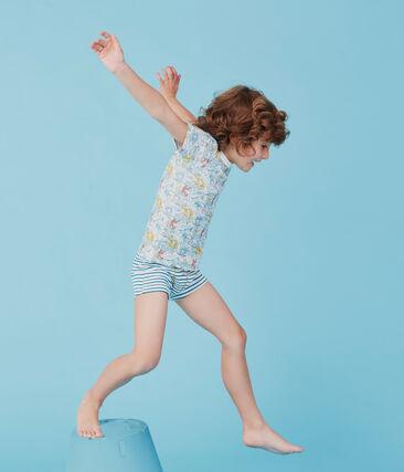 Par de camisetas manga corta de algodón infantiles para niño
