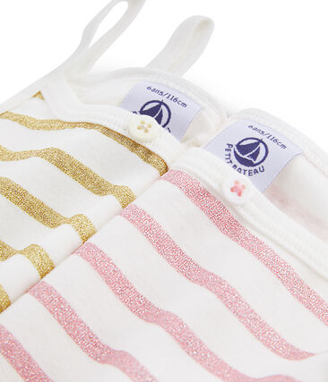 Dúo de camisas con tirantes para niña