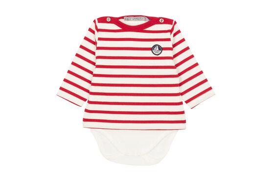 Body marinero icónico para bebé niño blanco Marshmallow / rojo Terkuit