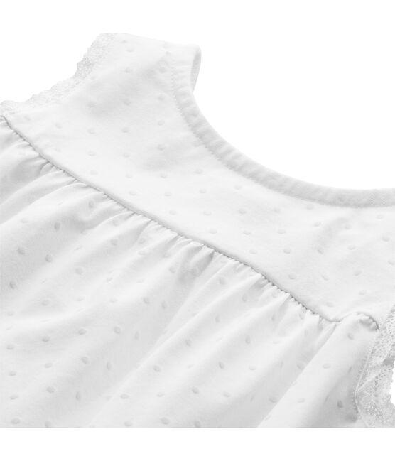 Camisón niña de lunares y acabados en encaje blanco Ecume