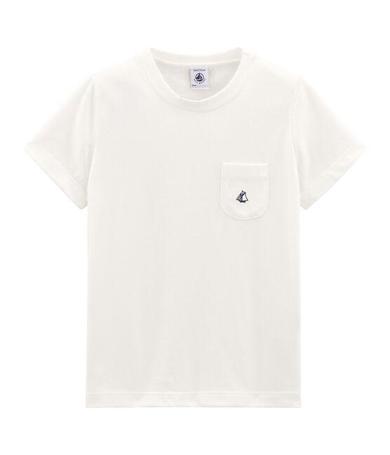 Camiseta manga corta infantil para niño blanco Marshmallow