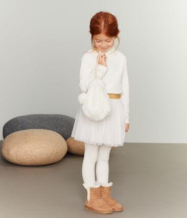 Mochila infantil para niña blanco Marshmallow