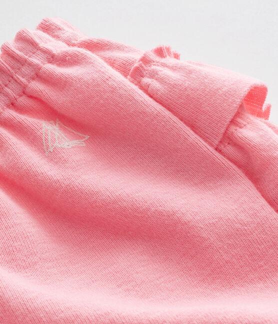 Braguita bombacho para bebé niña rosa Petal