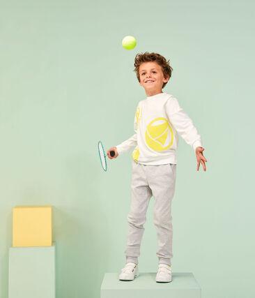 Sudadera de niño blanco Marshmallow / amarillo Eblouis