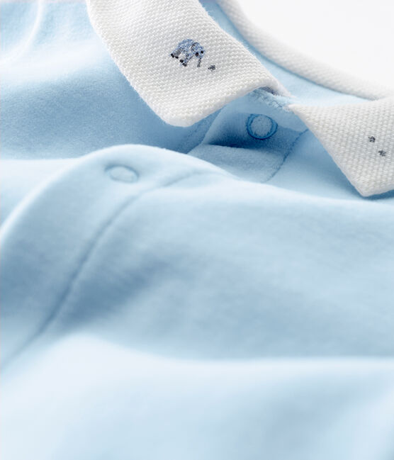 Pelele de terciopelo de algodón liso para bebé niño FRAICHEUR