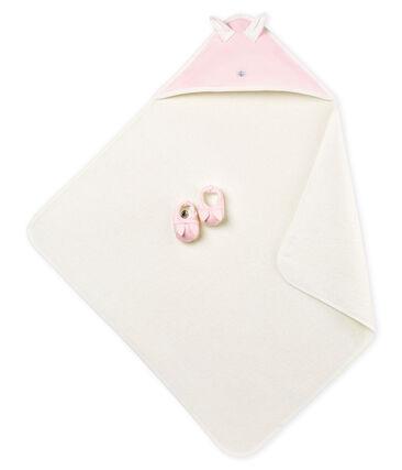 Estuche con toalla cuadrada de baño y patucos para bebé unisex