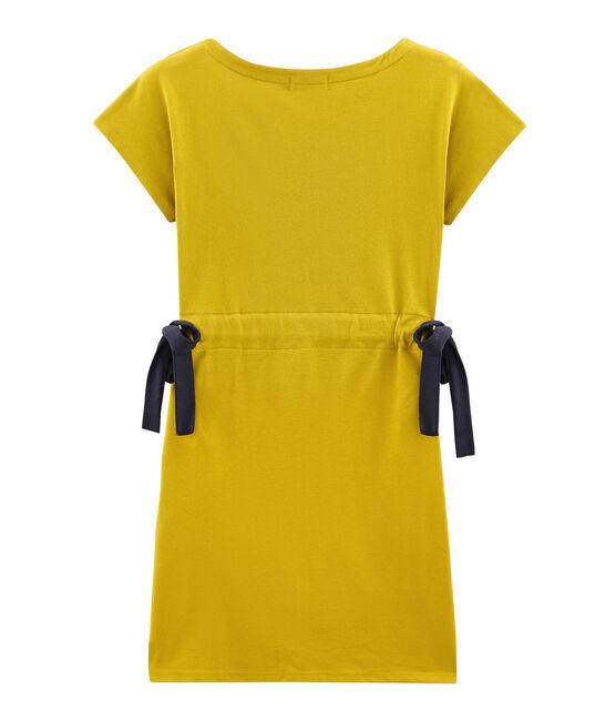 Vestido manga corta para mujer amarillo Bamboo