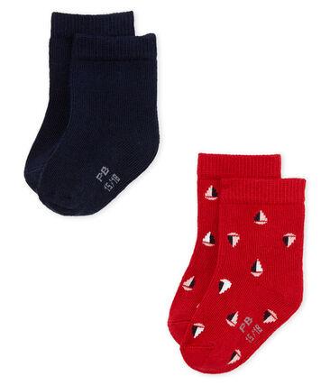 Lote de 2 pares de calcetines para bebé niño