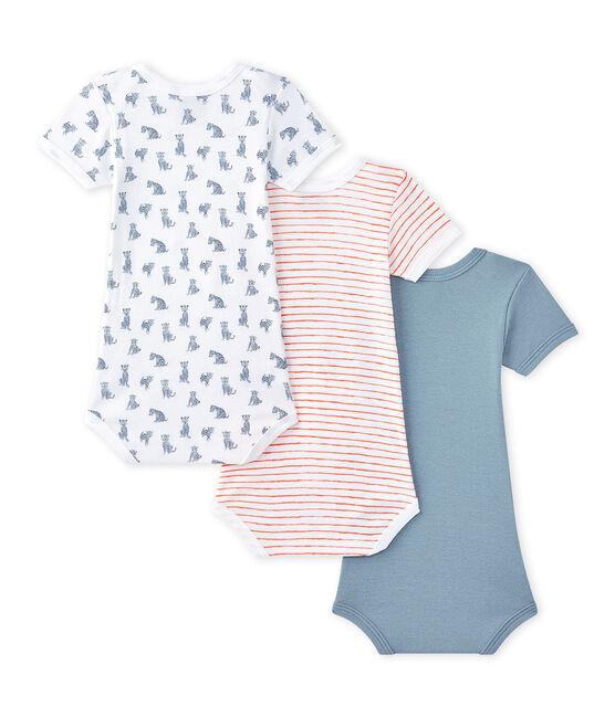 Lote de 3 bodies de manga corta para bebé niño lote .