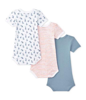 Lote de 3 bodies de manga corta para bebé niño