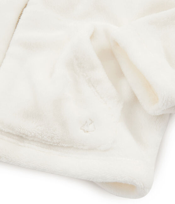 Sudadera polar de borreguillo para niña blanco Marshmallow