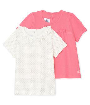 Juego de 2 camisetas para bebé niña lote .