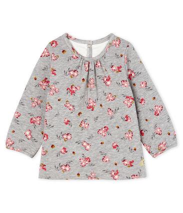 Blusa de manga larga estampada para bebé niña gris Beluga / blanco Multico