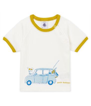 Camiseta manga corta con motivos para bebé niño blanco Marshmallow