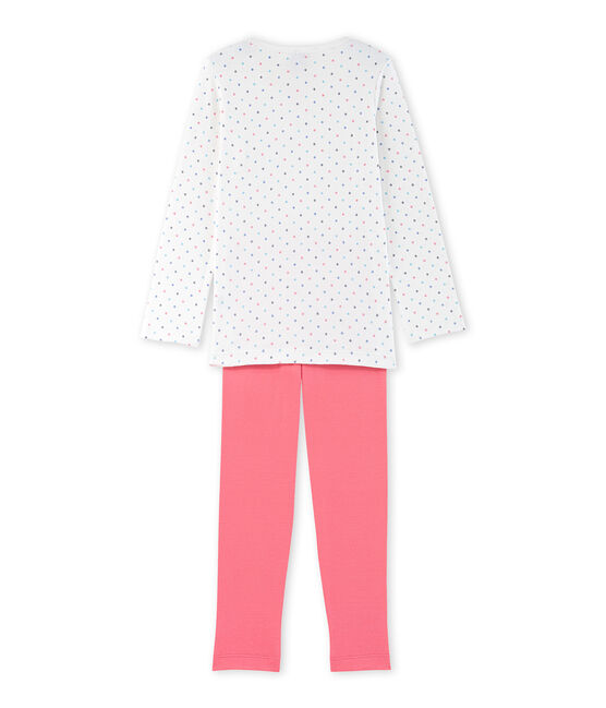 Pijama de lunares para niña blanco Lait / rojo Carmen