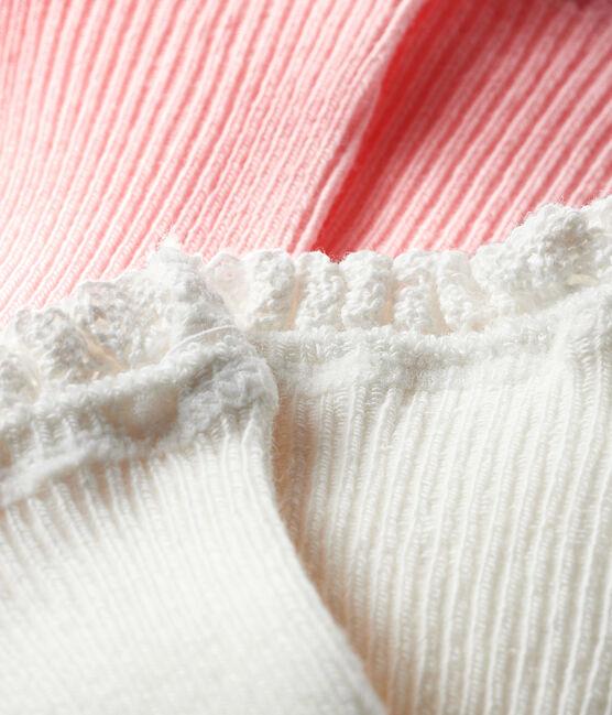 Lote de 2 pares de calcetines bebé niña MINOIS