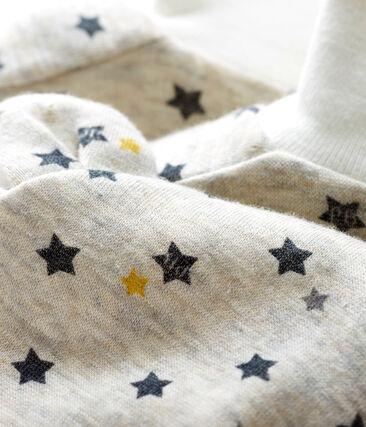 Lote de gorro y patucos para bebé niño de lana y algodón lote .