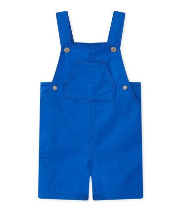 Peto corto para bebé niño azul Perse