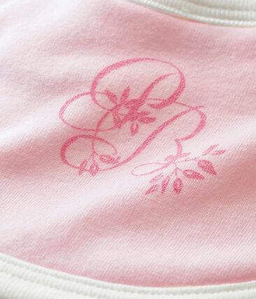 Babero para bebé en punto 1x1 rosa Vienne