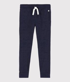 Pantalón de chándal de punto de niño azul Smoking