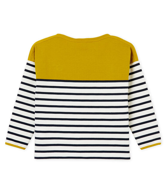 Jersey marinero infantil para niños amarillo Bamboo / blanco Marshmallow